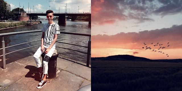 Weißes Outfit in Frankfurt und ein wunderschöner Sonnenuntergang