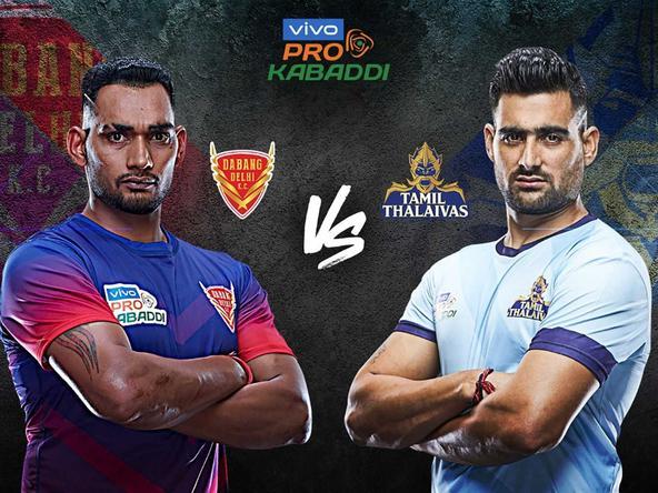 Kabaddi League 2019 Season VII Dabang Delhi K C vs Tamil