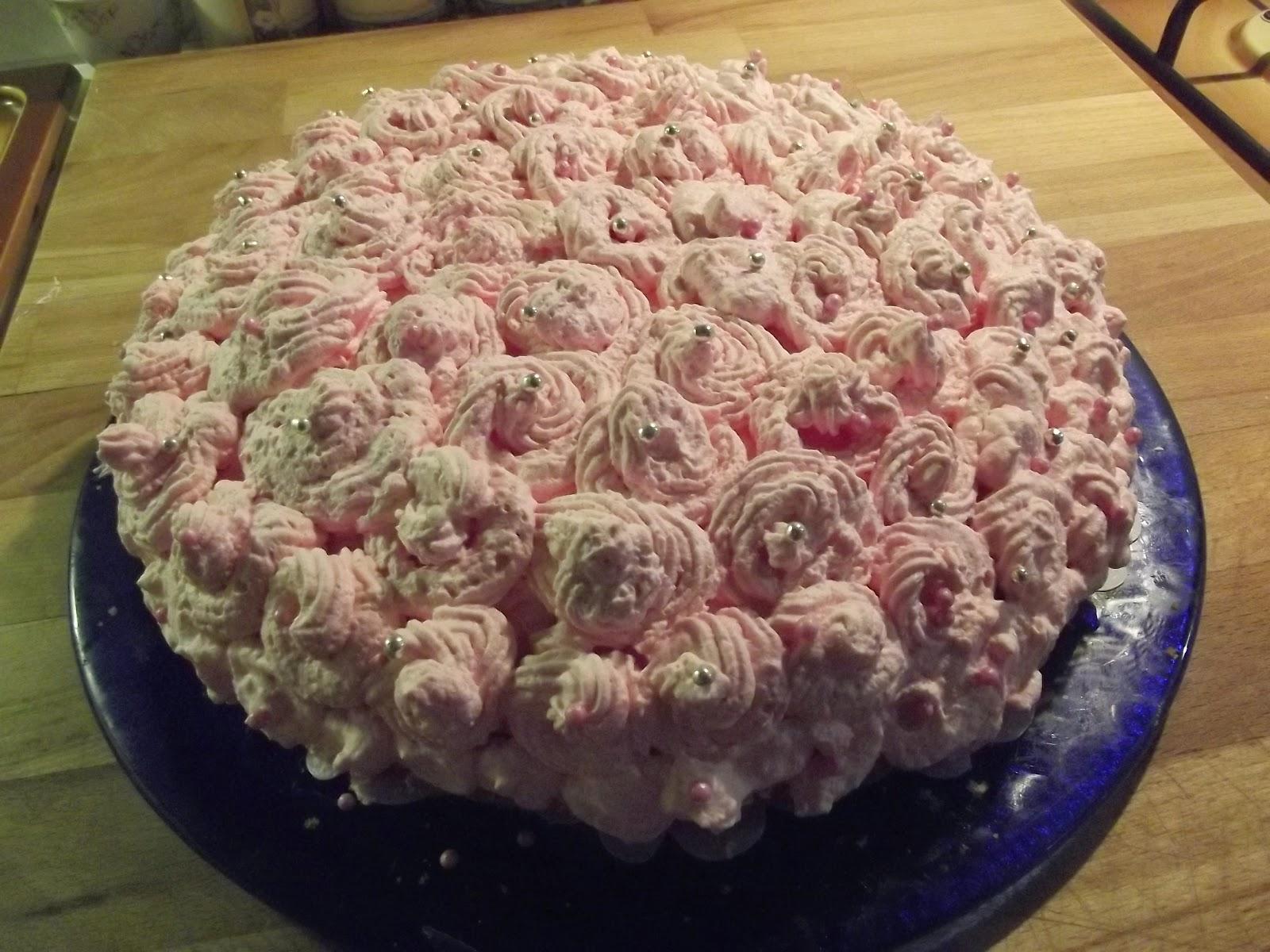 Immagine della torta la mia pink rose dal blog Sabrinaincucina