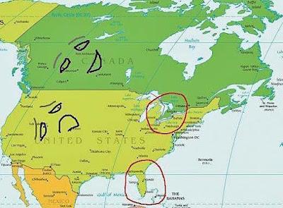 Lustige Landschaften USA und Kanada