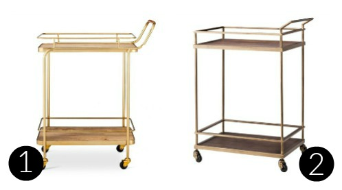 Brass bar carts from target