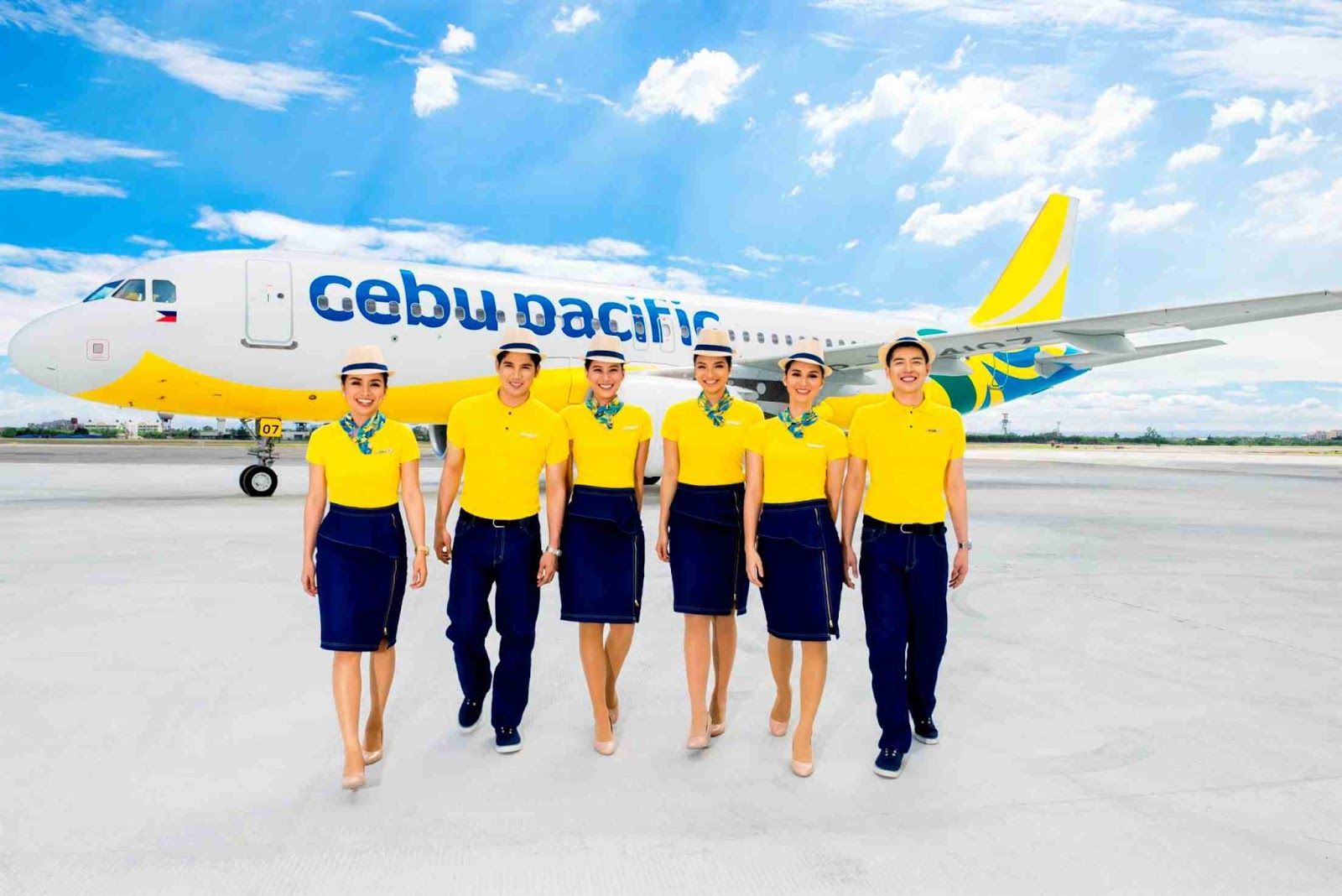 Cebu Pacific Cabin Crew Sporting Their New Uniform And Livery Photo By Air