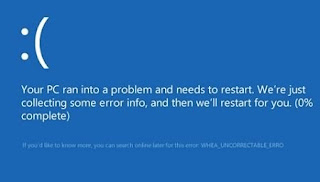 Your PC Ran into a Problem Uncorrectable Error