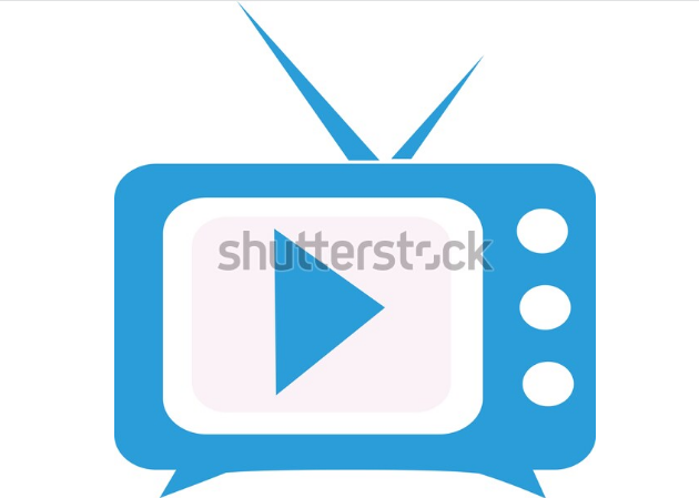 cartoon illustration logo tv streaming