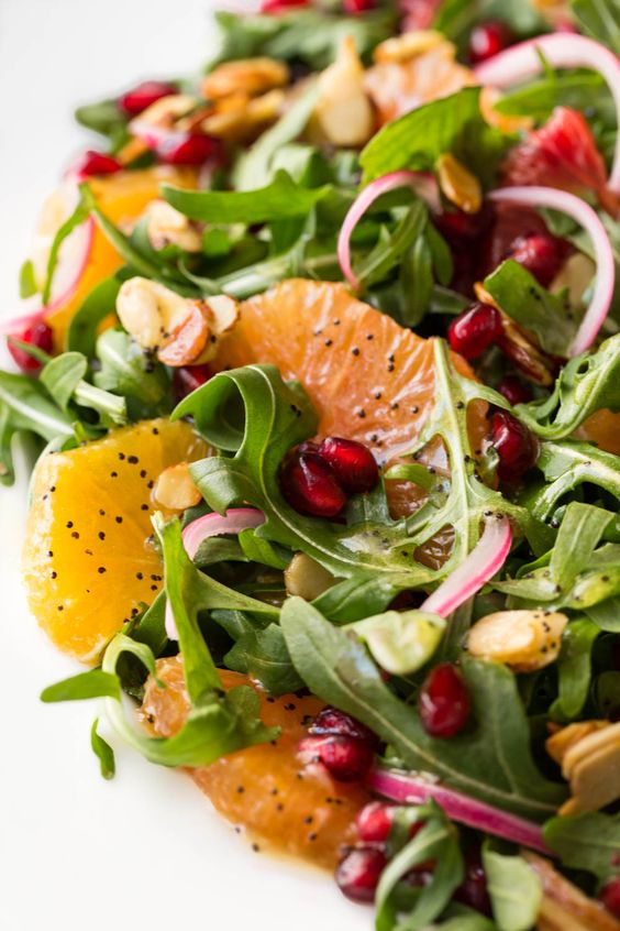 This bright, fresh salad is loaded with delicious seasonal produce. It's sure to chase away the winter blues!