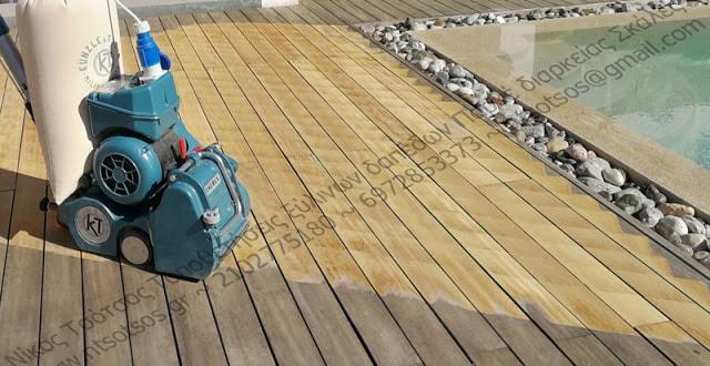 Συντήρηση σε deck εξωτερικού χώρου