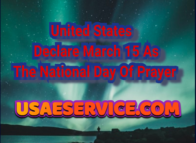 U.S. Declare The National Day Of Prayer