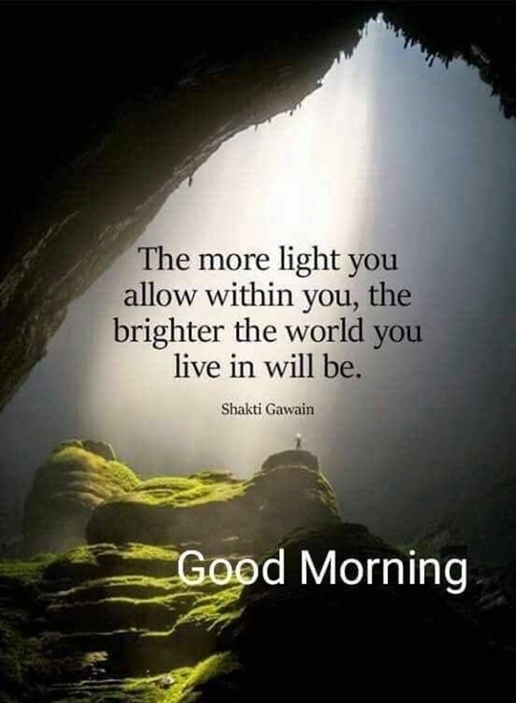 the more light you allow the brighter the world