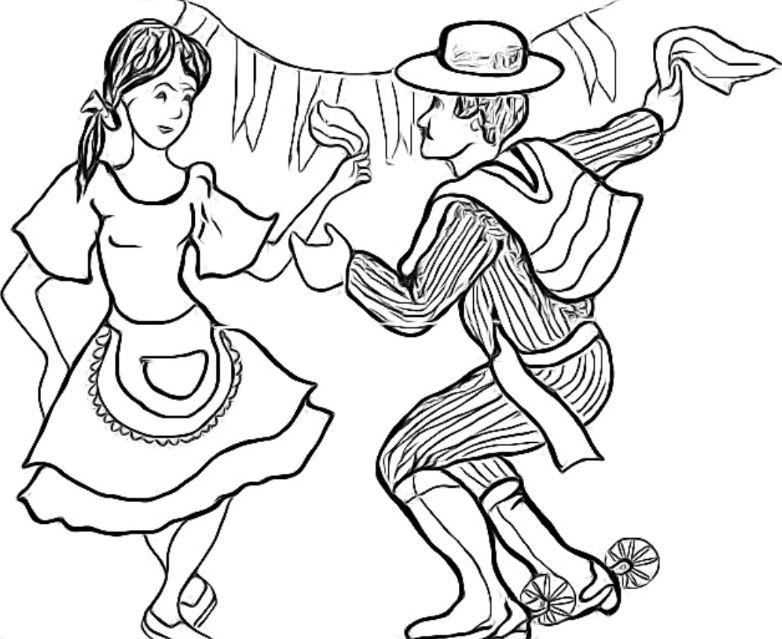 Huaso Chileno Para Colorear Fiestas Patrias Colorear Dibujos