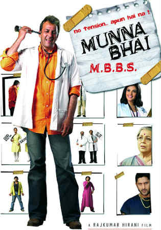 Munna Bhai MBBS 2003 DVDRip 700MB Full Hindi Movie Download x264 Watch Online Free bolly4u