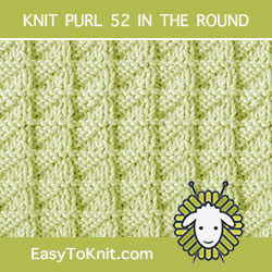 Stockinette Triangle Knit Purl, easy to knit in the round