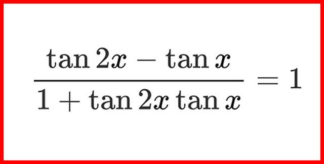معادلات الحساب المثلثي