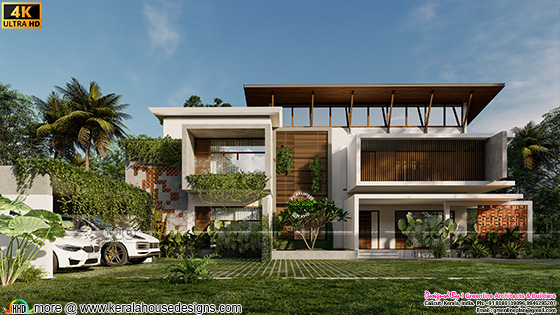 Tropical Kerala house in contemporary style