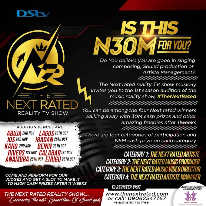 Is this #30m for real? THE NEXT RATED TV REALITY SHOW