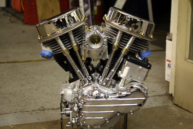 old stf cycle finished panhead motor for lillian rose