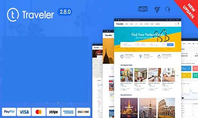تحميل قالب ووردبريس Traveler 2.9.3 المدفوع مجانا