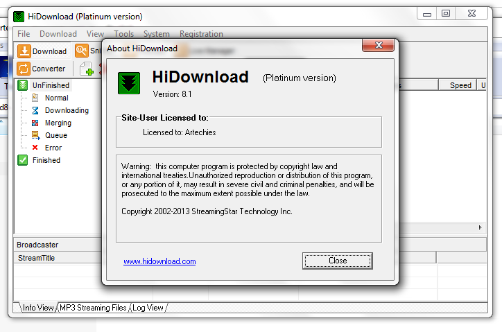 hidownload platinum 8.1