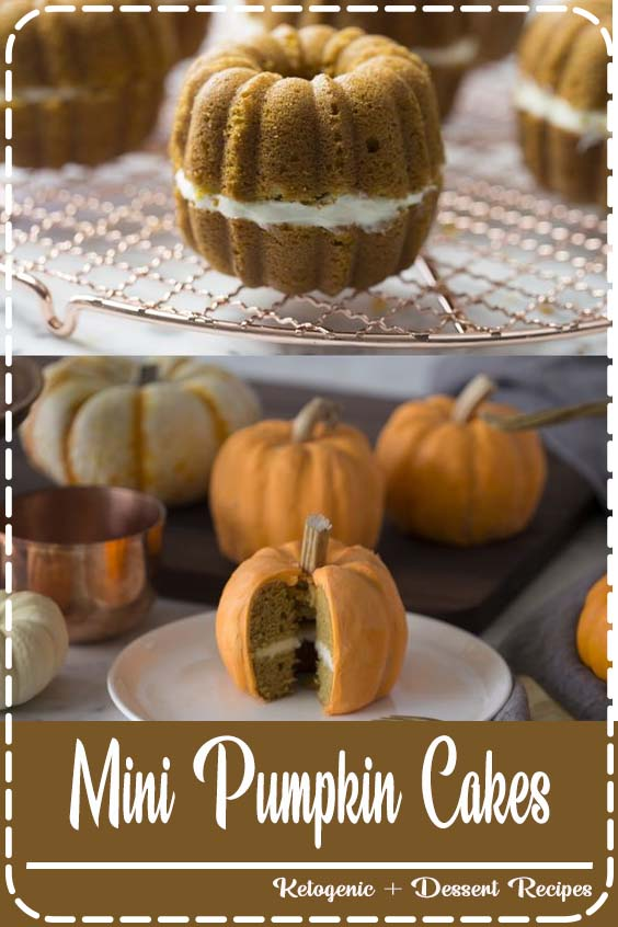 Click over for the full recipe and video Mini Pumpkin Cakes
