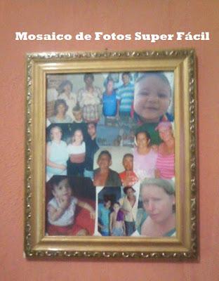 Mosaico de Fotos, Reutilizando o que Temos em Casa...