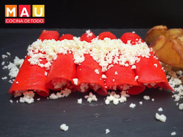enchiladas rojas como en la taqueria juarez