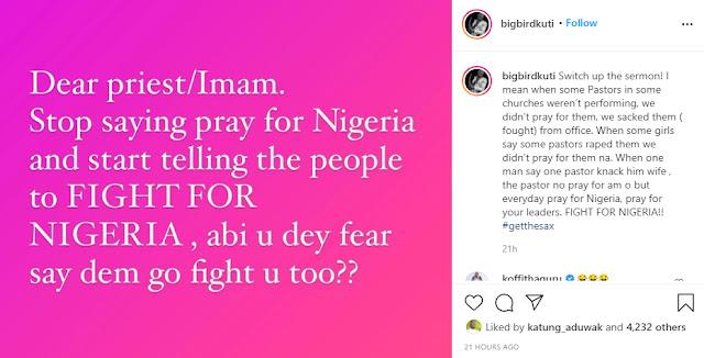 Pastors stop saying praying for Nigeria, Fight for Nigeria - Seun Kuti