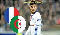 الجزائري حسام عوار مهاجم ليون يفضل اللعب لفرنسا بدلا من الجزائر