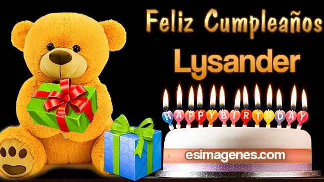 Feliz Cumpleaños Lysander