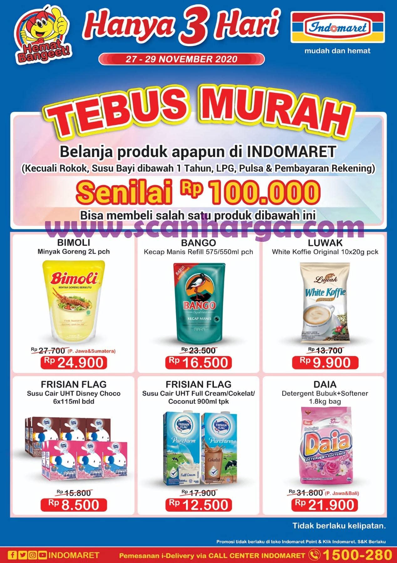 JSM INDOMARET GAJIAN Promo Tebus Murah Periode 27 - 29 November 2020