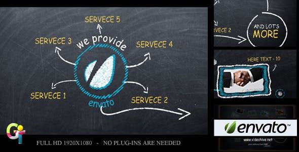 Videohive - Promote your Business on Blackboard 2412544