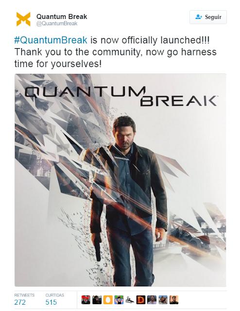 Twitter oficial de Quentum Break