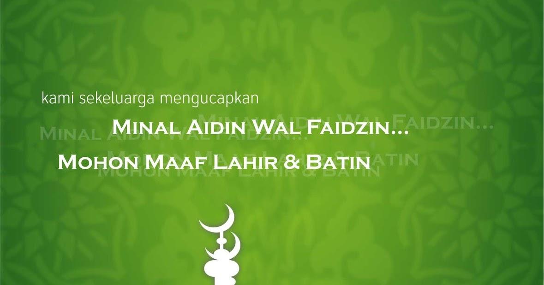 Kartu Lebaran Minal Aidin Wal Faidzin CDR | Design Corel