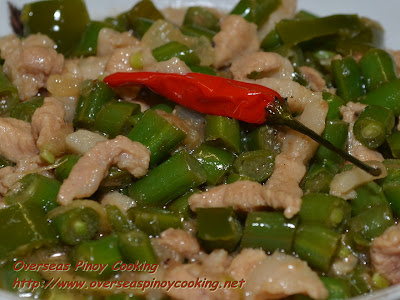Gising Gising, Spicy Green Beans with Coconut Milk