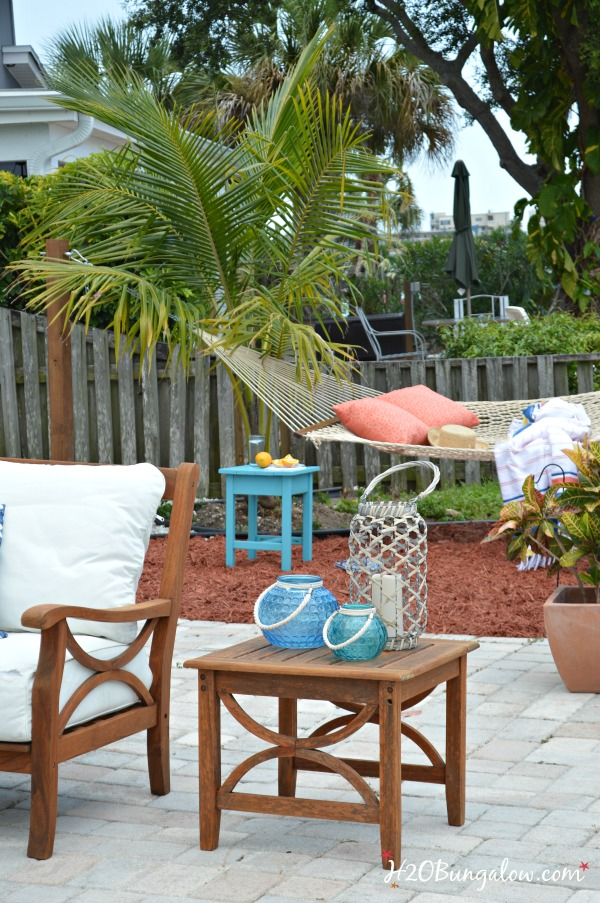 DIY hammock stand in ground