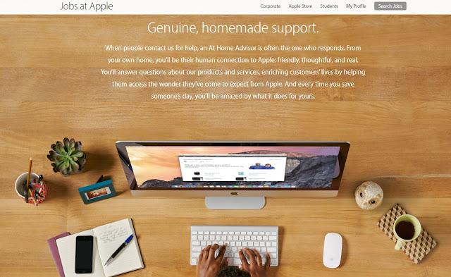 trabajar desde casa para apple