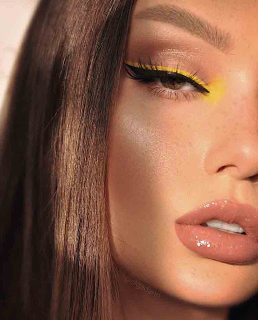 make com delineado amarelo