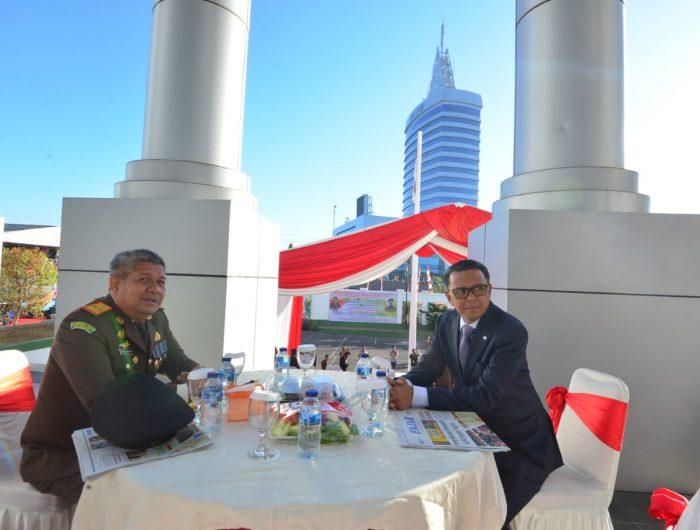 Gubernur NA Hadiri Upacara Hari Bakti Adhiyaksa Ke- 59 Tahun 2019