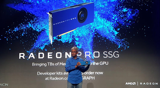 AMD introduces its Radeon Pro SSG which manages the 8K, 9999 dollars!