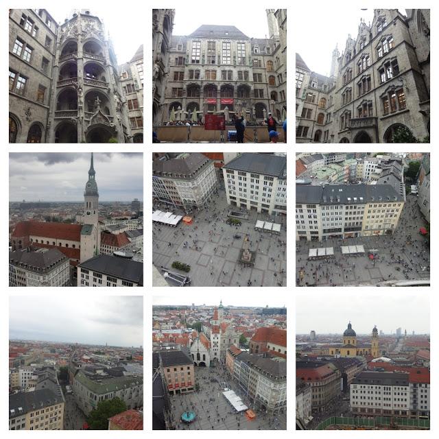 Vistas panorâmicas de Munique - vários lugares para subir e ver a cidade do alto! Neus Rathaus