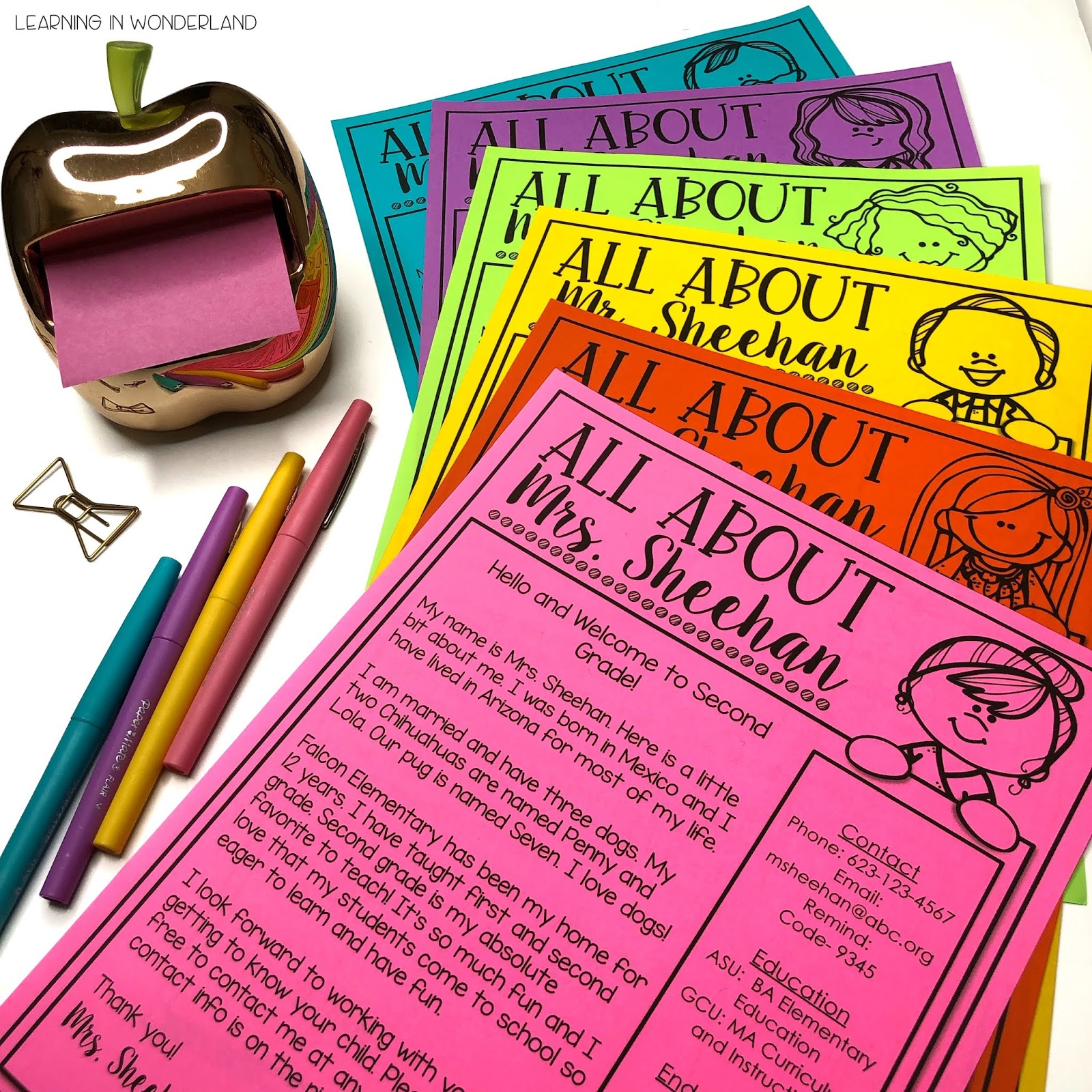Meet the Teacher Letter | Learning In Wonderland
