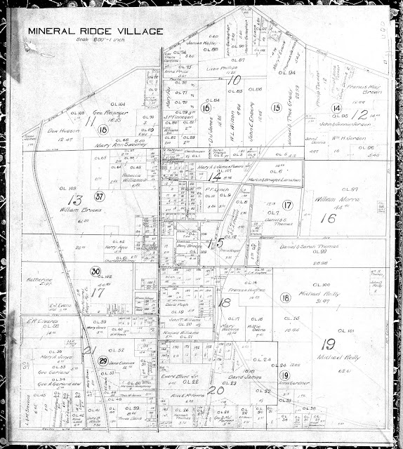 1910 Map of Mineral Ridge Village, Weathersfield Township, Trumbull County, Ohio
