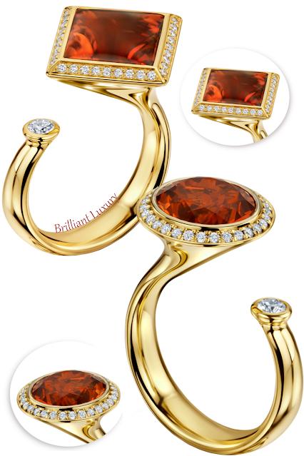 Andrew Geoghegan Satellite Madeira cinnamon-coloured madeira citrine diamond ring #brilliantluxury