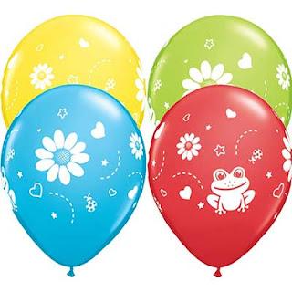 воздушные шарики  с лягушкой