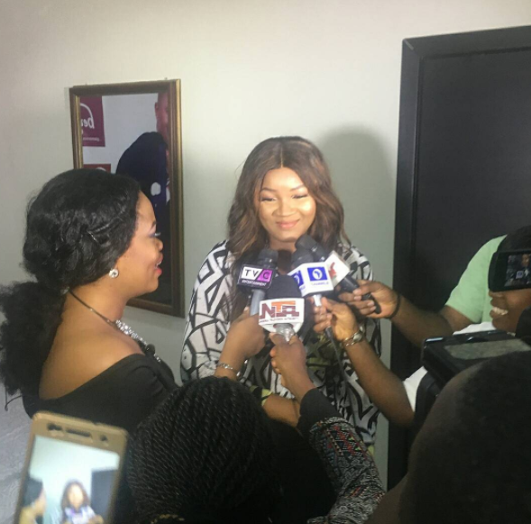 Omotola jalade at Saidi birthday