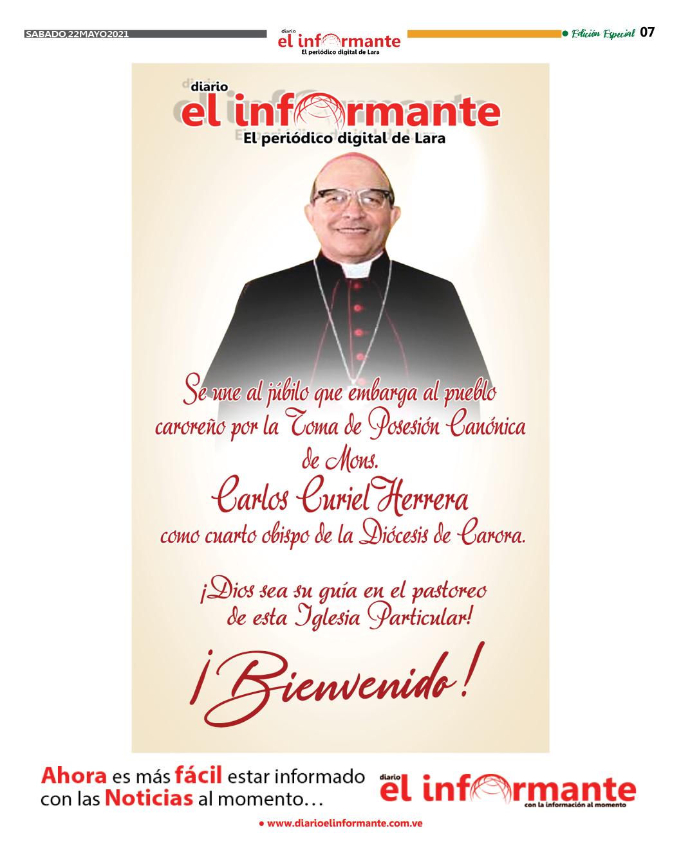 DE SANGRE EPISCOPAL: CARLOS CURIEL EL OBISPO DE LOS CAROREÑOS