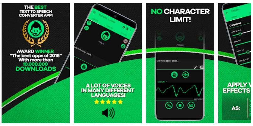 narrators voice di google play