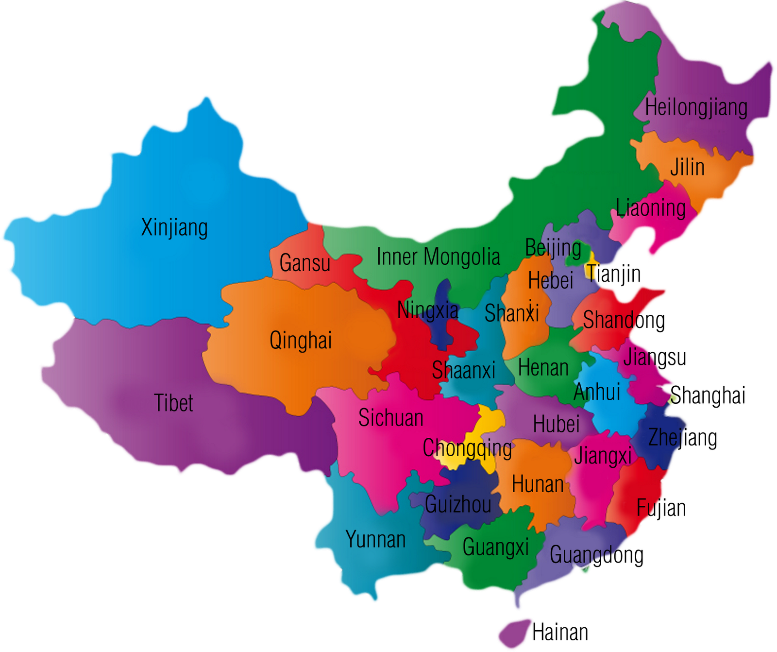 China Provinces Study Guide | China Geography Quiz