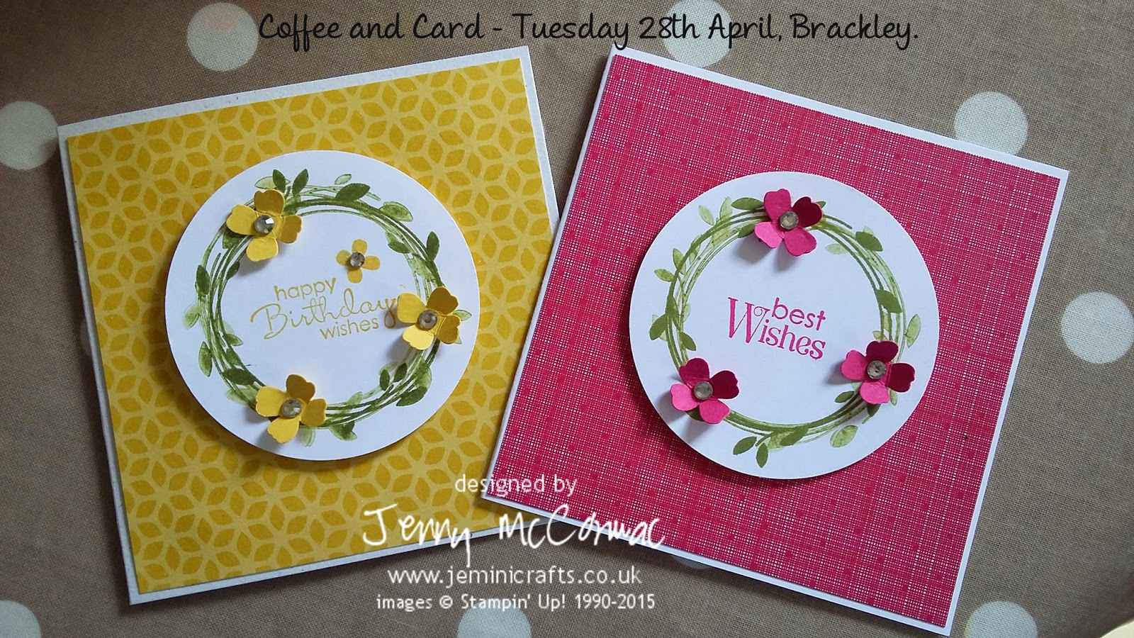 Coffee and Card with Jemini Crafts www.jeminicrafts.co.uk