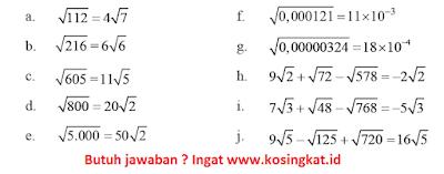 kunci jawaban matematika kelas 9 halaman 46 - 49 latihan 1.4