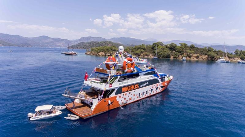 'Migros Deniz Market' ile denizde de hizmet sunuyor
