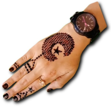 Moon & Star Mehndi for Kids